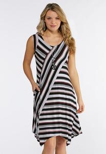 Multi Directional Stripe Dress