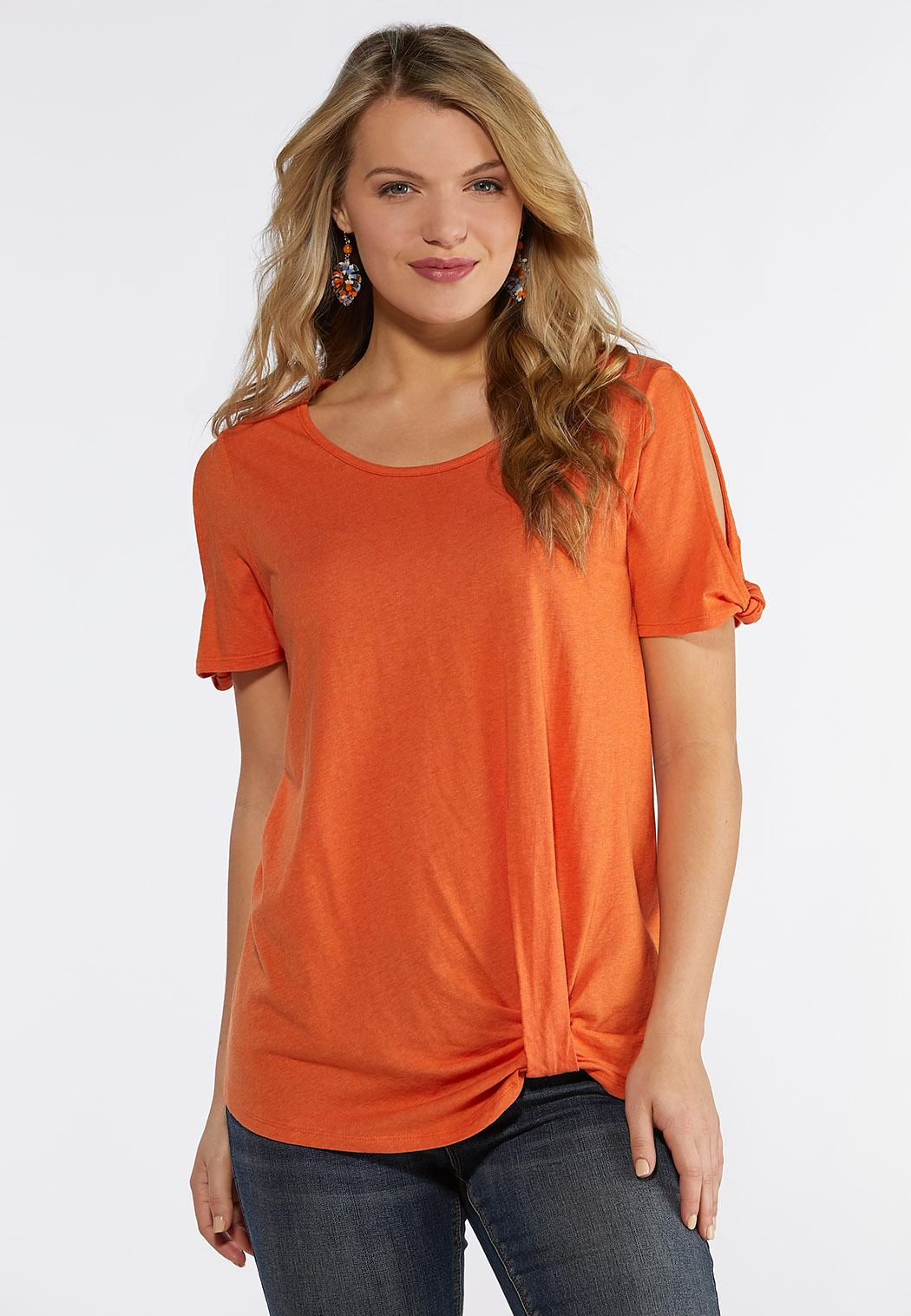 ffbae18756ce7 Twist Hem Cold Shoulder Top Tees   Knit Tops Cato Fashions