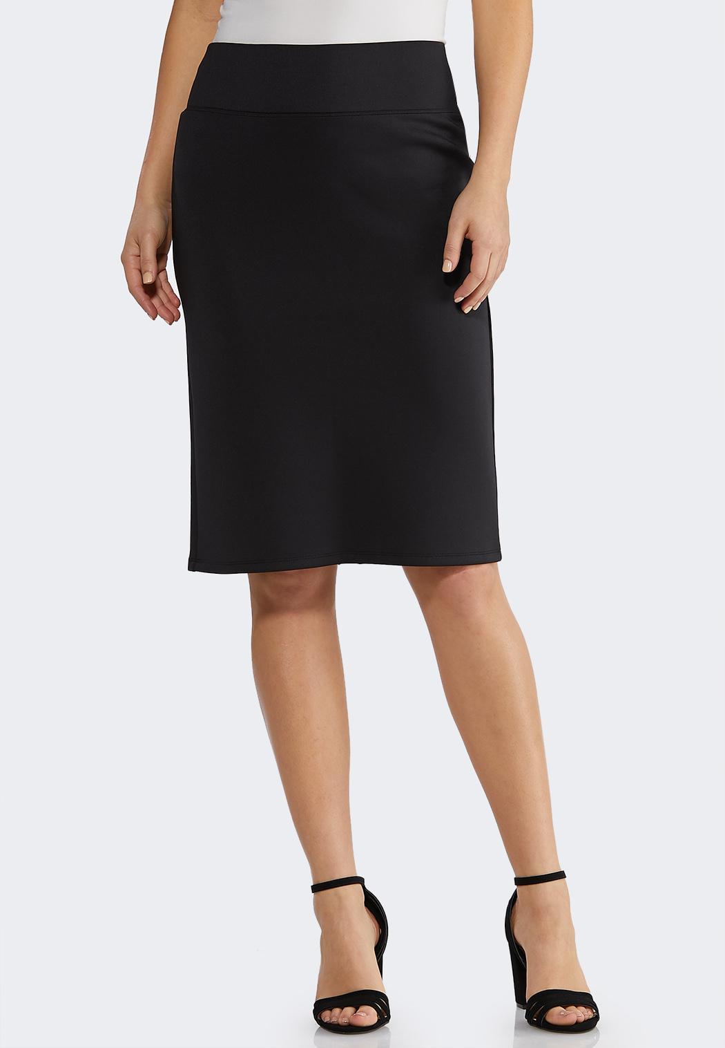 78fe624d4 Solid Scuba Pencil Skirt alternate view · Solid Scuba Pencil Skirt