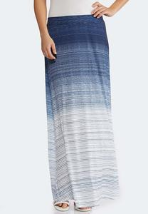 Plus Size Ombre Stripe Maxi