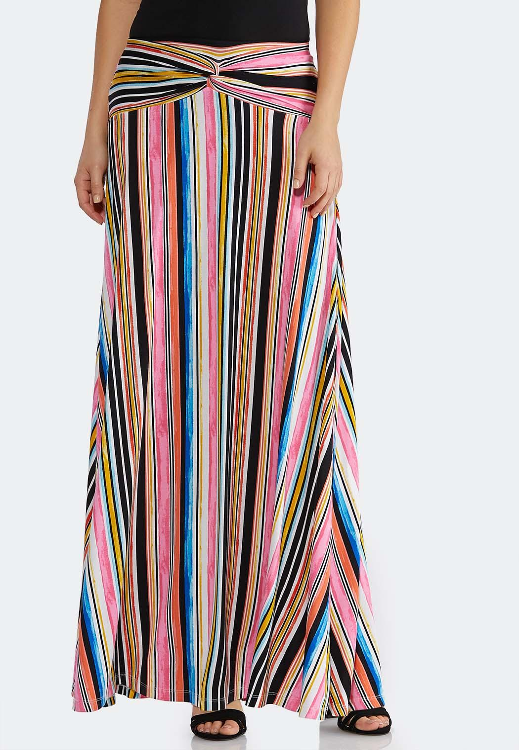 a7fdc9da4 Multi Stripe Maxi Skirt alternate view · Multi Stripe Maxi Skirt
