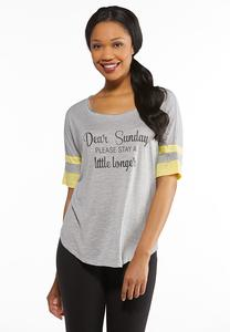 Plus Size Dear Sunday Tee