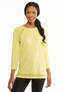 Plus Size Yellow French Terry Top