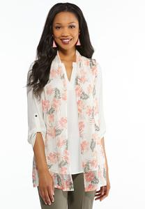 Shell Floral Sweater Vest
