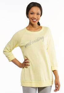 Plus Size Weekending Fleece Sweatshirt