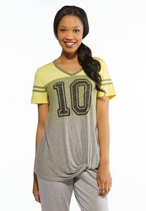 Plus Size Knotted Sporty Tee