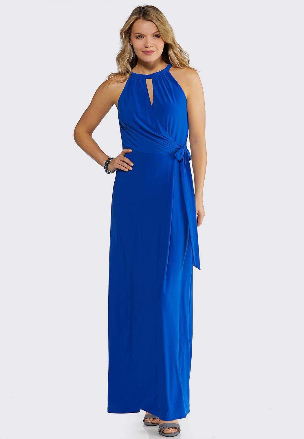 8bcbdbf47cd Faux Wrap Solid Maxi Dress Junior Misses Cato Fashions