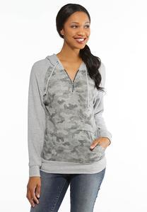 Camo Pullover Sweatshirt