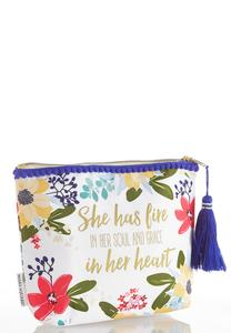 Soul And Grace Floral Pom Pouch