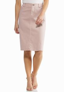 Blush Denim Skirt