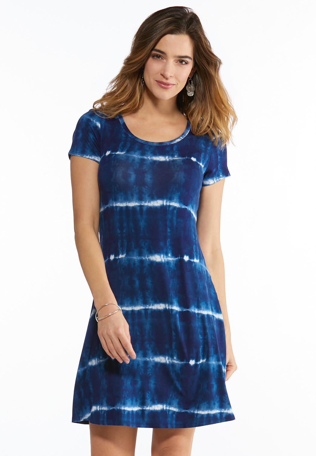 Plus Size Tie Dye Bow Back Dress