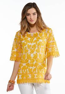 Gold Leaf Crochet Top