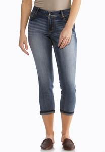 Petite Cropped Rinse Wash Jeans