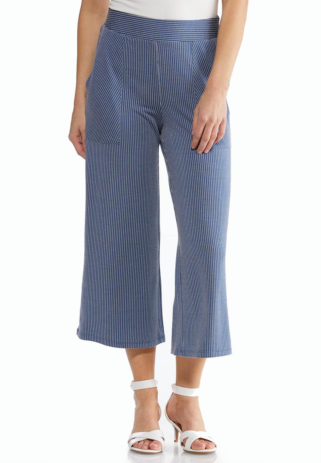 Cropped Soft Stripe Pants