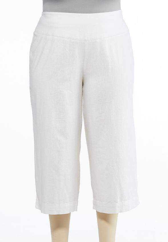 1e985ca1e0 Plus Size Cropped Linen Pants Pants Cato Fashions