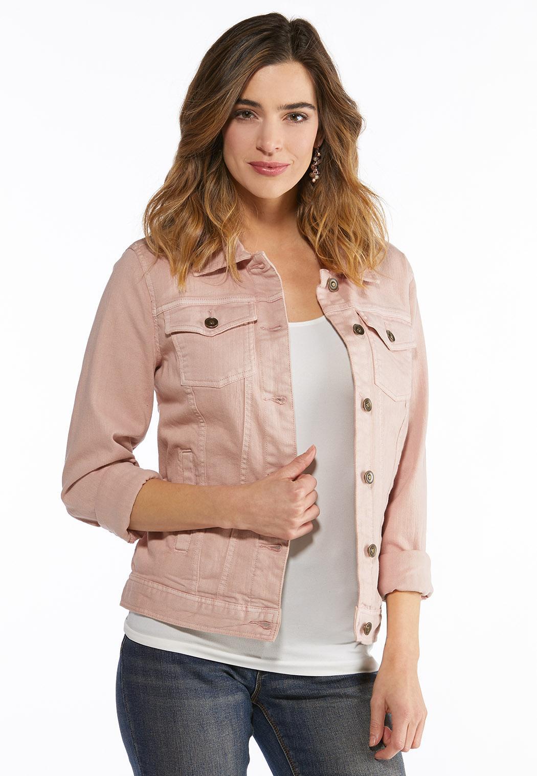 Blush Denim Jacket