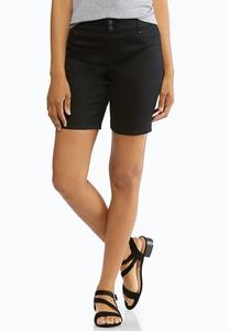 Black Denim Bermuda Shorts