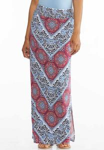 Floral Medallion Maxi Skirt