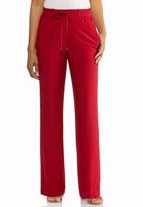 Red Tie Waist Pants