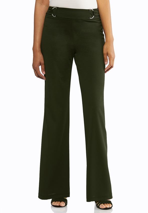 Petite Stretch Wide Leg Trouser Pants