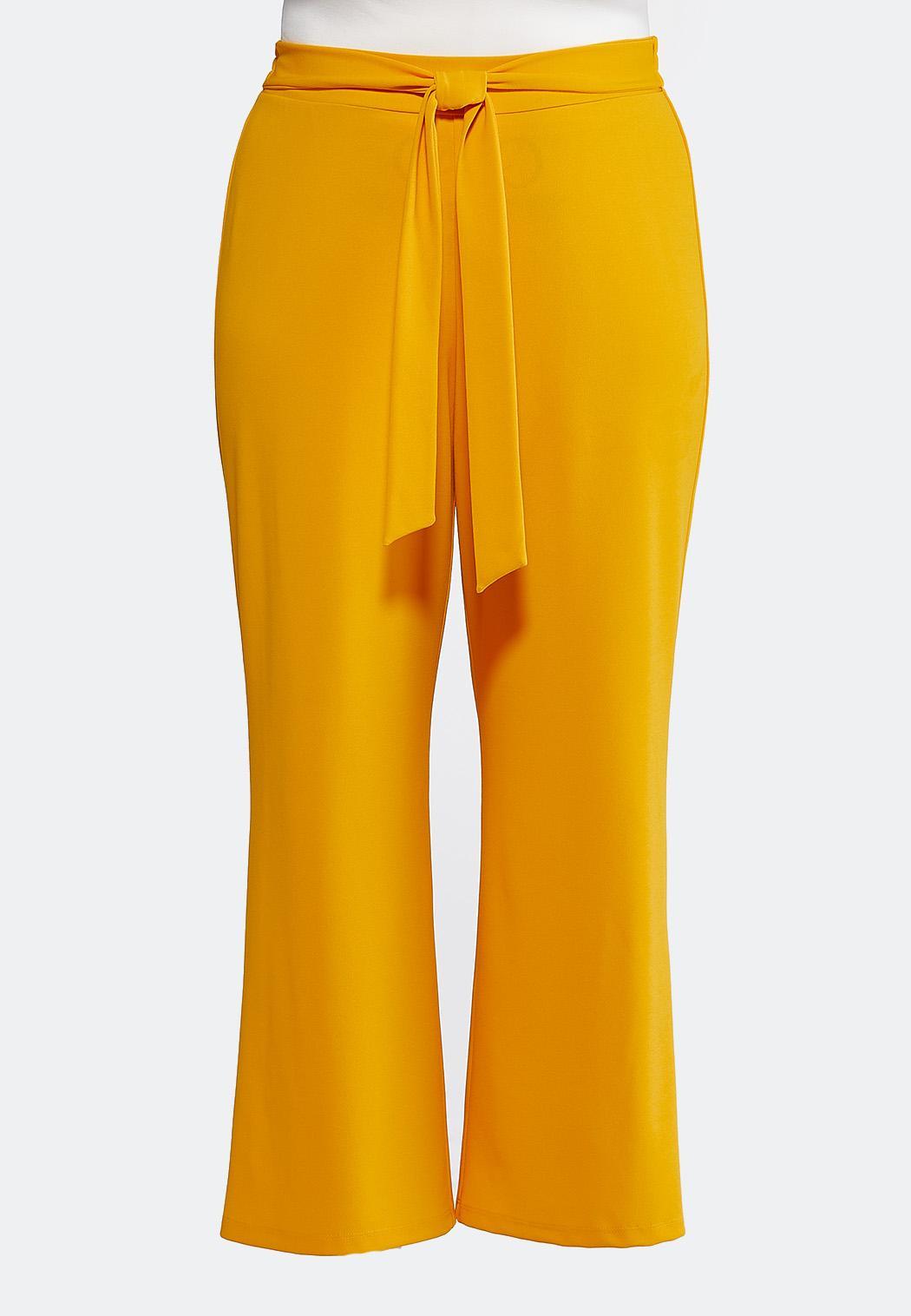 Plus Size Tie Waist Wide Leg Pants