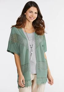 Textured Lace Cardigan