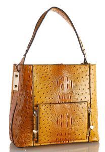Zipper Strap Multi Compartment Handbag