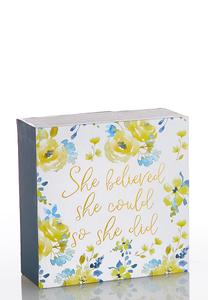 She Believed Decorative Box