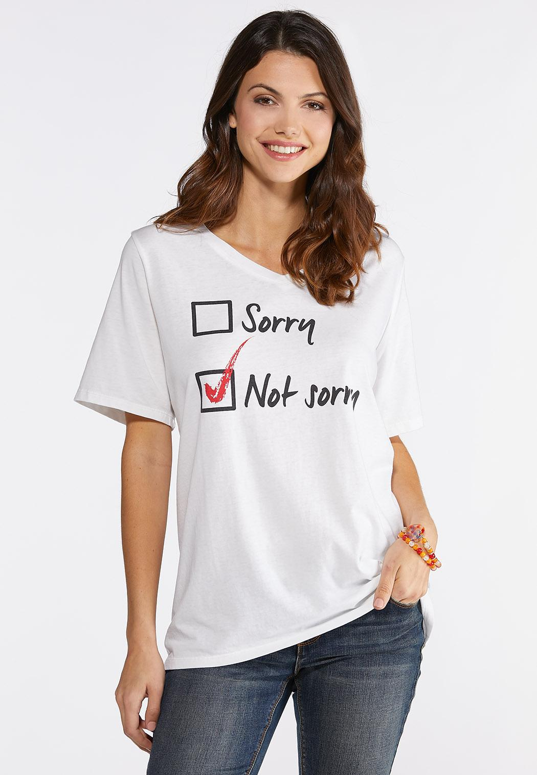 047d77671f9 Plus Size Not Sorry Graphic Tee Graphic Tees Cato Fashions