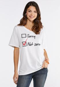 f34a552c99a05 Plus Size Not Sorry Graphic Tee