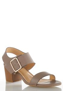 Buckle Strap Heeled Sandals