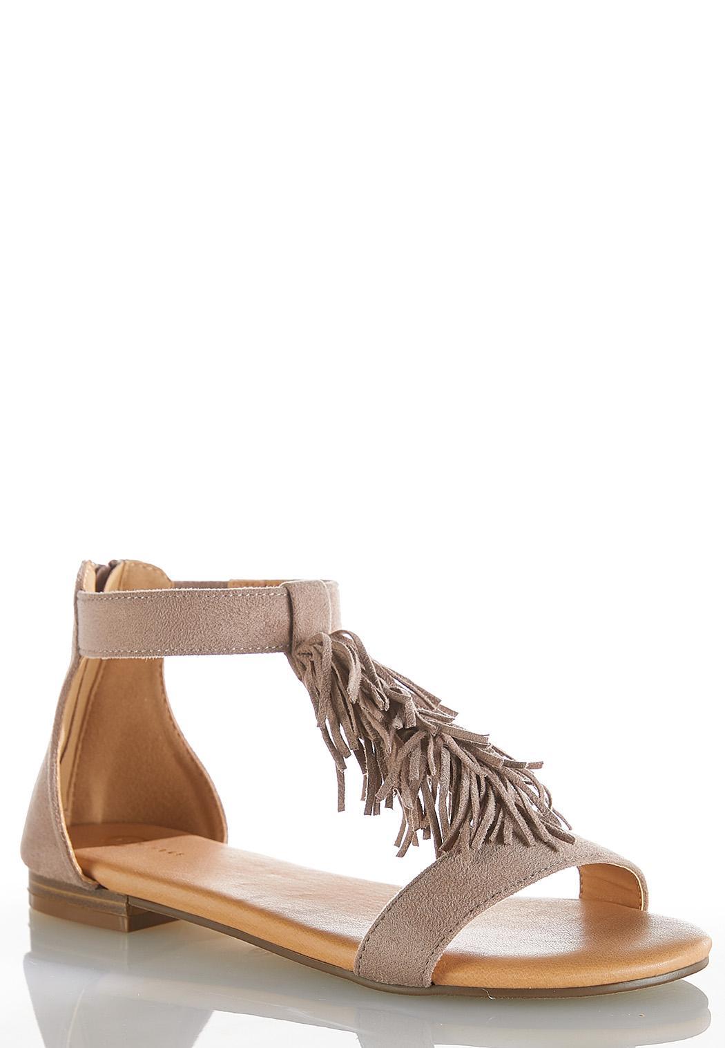 Fringe Vamp Sandals