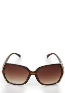 Embellished Rim Square Sunglasses