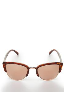 Tortoise Brow Bar Cateye Sunglasses