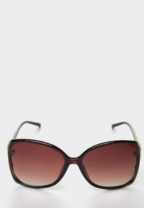 Cutout Side Tortoise Sunglasses