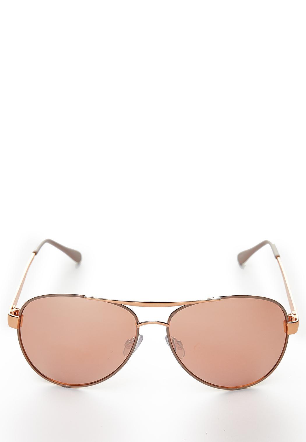 5e15bcbe96843 Rose Gold Aviator Sunglasses Sunglasses Cato Fashions