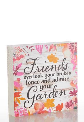 Friends Floral Decorative Plaque