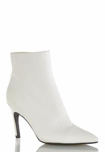 White Center Seam Ankle Boots