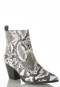 Snakeskin Western Ankle Boots