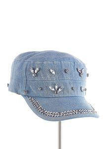 Denim Bedazzled Cap