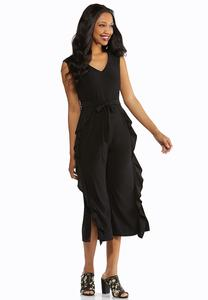Ruffled Interest Self Tie Jumpsuit