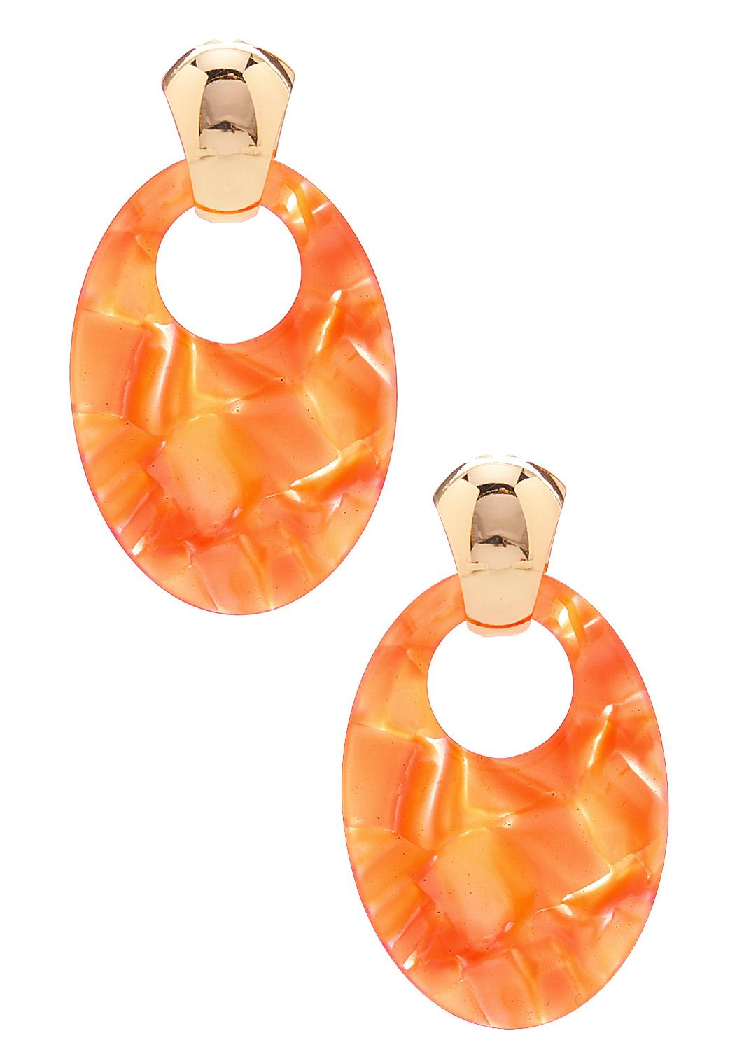 Cutout Oval Lucite Earrings