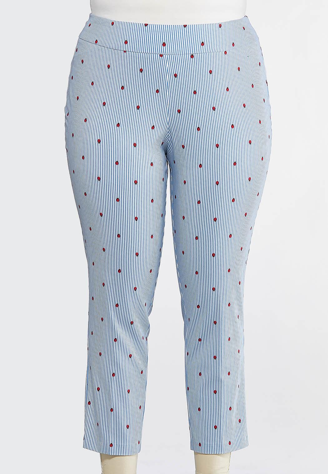 Plus Size Ladybug Bengaline Pants