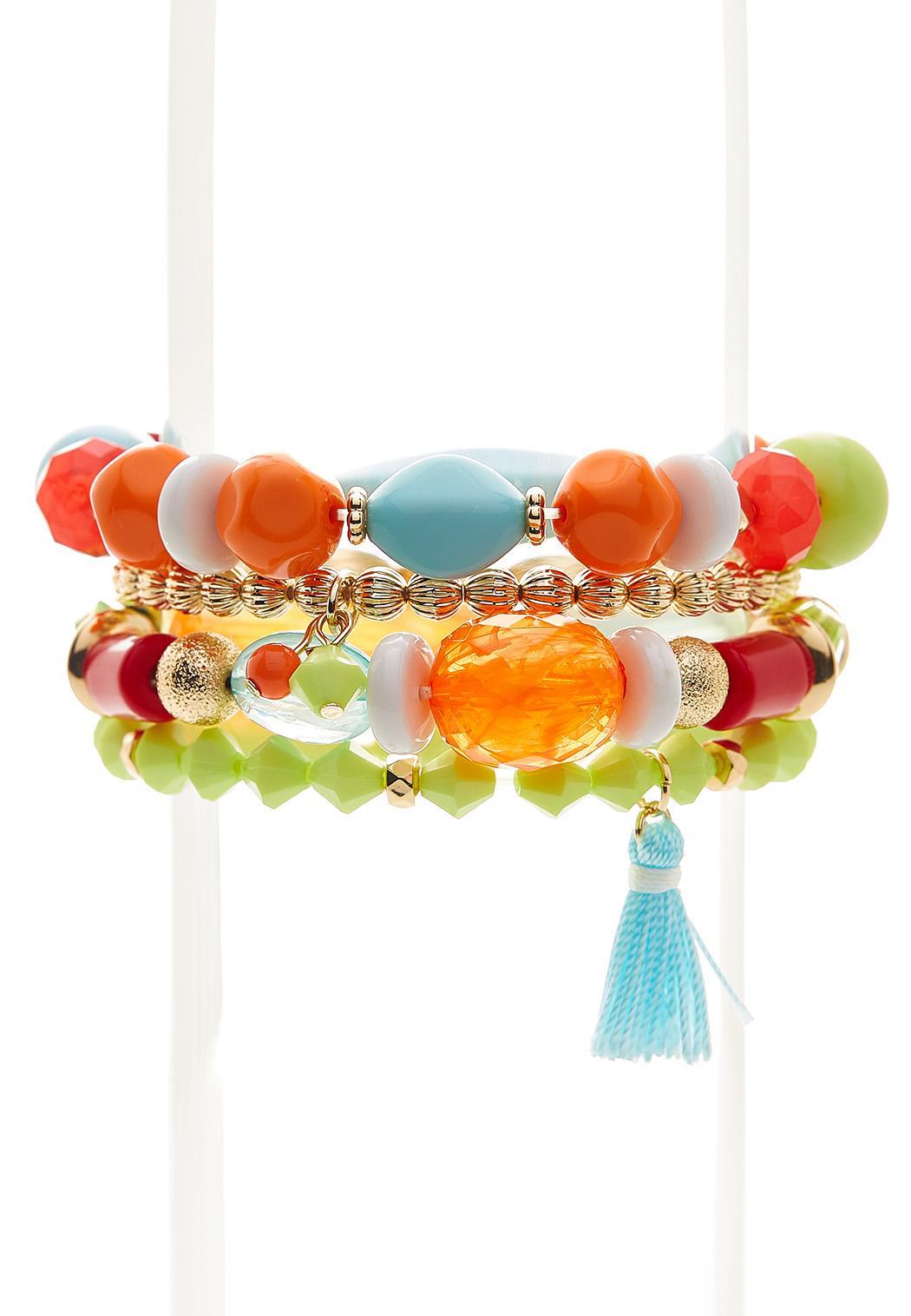 Multi Bead Stretch Bracelet Set