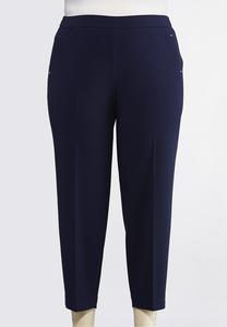 Plus Petite Solid Pull-On Pants