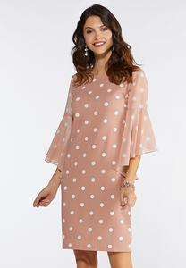 83f0f835336d7 Plus Size Blush Polka Dot Shift Dress