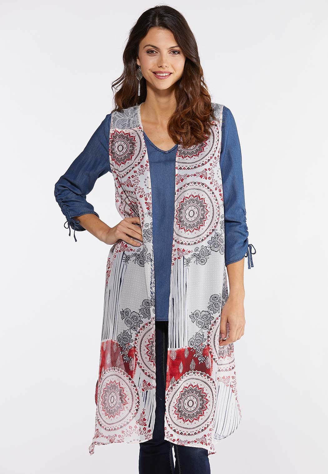 Lacy Floral Patchwork Vest