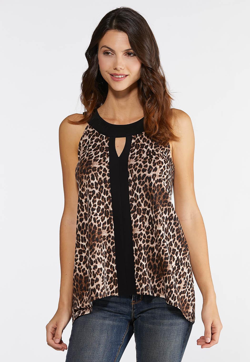 Leopard Print Knit Tank Top