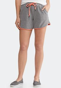 French Terry Colorblock Shorts