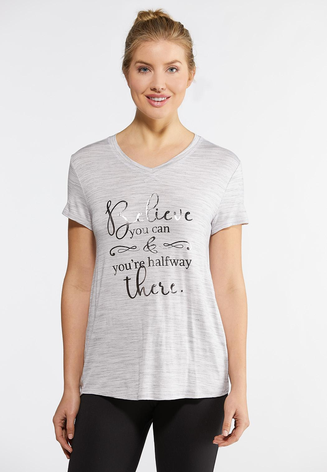 Plus Size Believe You Can Tee Tops Cato Fashions